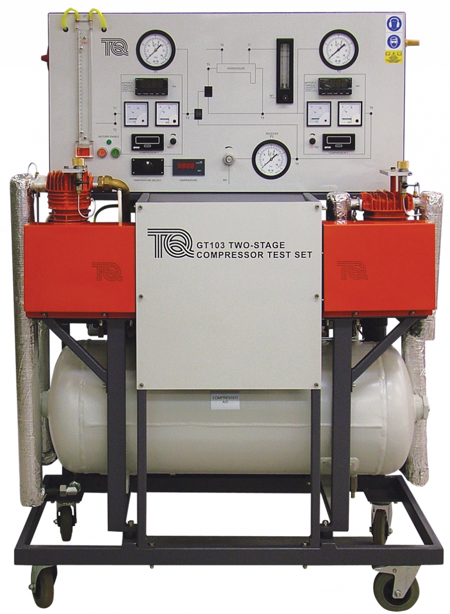 Two stage compressor test set for Electric motor test panel